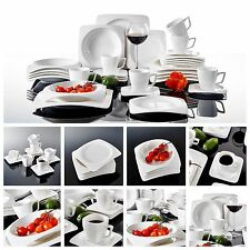 30PC Complete Dinner Set Round Plates Cups Ceramic Dinnerware Kitchen Dining Set