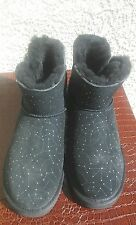 UGG Australia Black Mini Bailey Button BLING CONSTELLATION Boots Size 7 1008822