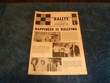 Vol 2 No 7 July 1966 Rallye Publication Falcon Mustang Club Mag NOS FORD Shelby