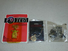 VINTAGE STAR WARS NECKLACE LOT NEW YODA DIE CAST R2D2 C3PO ROTJ POTF X-WING RARE