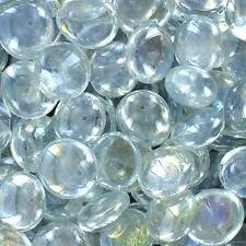 Clear Glass Mosaic Flat Bottom Marbles, Vase Filler, Wedding Supplies 25 Pounds