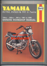Yamaha Virago XV750 XV1000 TR1 (1981-1988) Haynes Shop Manual XV 750 1000 920 SE