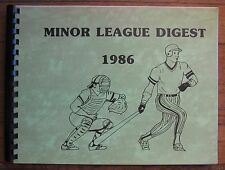 1986 Minor League Digest by Baseball Blue Book, Green Cover with Spiral Binding