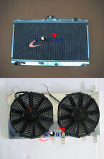 "Aluminum Radiator & Fan shroud with 2 pcs 12"" fan for MAZDA MIATA MX5 1999-2005"