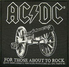 "AC/DC AUFNÄHER / PATCH # 56 ""FOR THOSE ABOUT TO ROCK"""