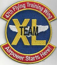 USAF 47th FLYING TRAINING WING PATCH -   'TEAM XL'                        COLOR