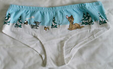Topshop Disney Christmas Bambi & Thumper Low Rise Shorts Knickers- BNWT -Size 12