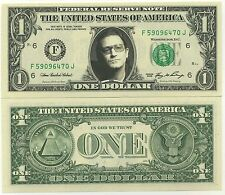 BONO / U2 - VRAI BILLET de 1 DOLLAR US ! COLLECTION ICONE du ROCK - Pop Portrait