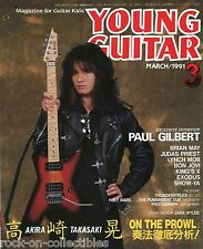Young Guitar Magazine March 1991 Japan Loudness Exodus Judas Priest