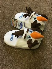 Brand New Boys Kids - Disney Frozen Olaf Stompeez Slippers - White - Size Small