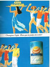 Publicité Advertising 1990 Boisson Soda Orangina Light