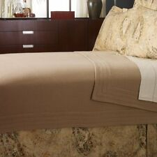 Ralph Lauren Verdonnet Channel Stitch Camel Wool King Bed Blanket