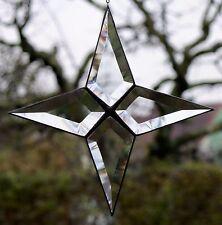 Bleiverglasung Fensterbild Suncatcher Facetten- Stern 20 cm in Tiffany