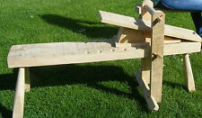 New Ray Iles SHAVE HORSE, made from seasoned ash. Green woodworking, drawknife.