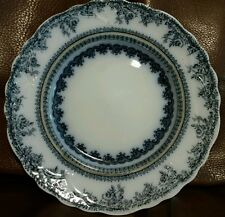 """New Wharf FLORENCE flow blue China 8"""" plate 1890s 3 available"""