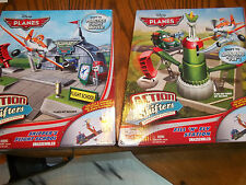 2 Sets Disney Planes Action Shifters Skippers School & Fill & Fly Station  New