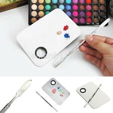 New Stainless Steel Cosmetic Makeup Palette Spatula Mixing Make Up Tool DIY UK