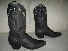 LAREDO Women Sz 7 M Black Leather Western Cowboy Boots Cowgirl