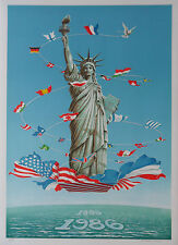 STATUE OF LIBERTY CENTENARY PORTFOLIO OF SIX PRINTS 1986 REAGAN/MITTERRAND 1986