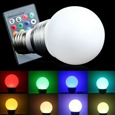 E27 LED RGB 3W 16 Colors Change Lamp Light Bulb+24 key IR Remote Controller Sale