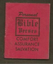 PERSONAL BIBLE VERSES - COMFORT, ASSURANCE, SALVATION - MINIATURE