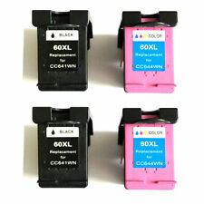 RemanInk Cartridge for HP 60XL PhotoSmart C4750 Printer (2 sets)
