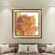 DIY 5D Rose Diamond Embroidery Painting Flower Cross Stitch Home Decor Craft