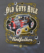 Old Guys Rule Rodfather Short Sleeve XLarge T Shirt,By Rick Rietveld,Surfwear