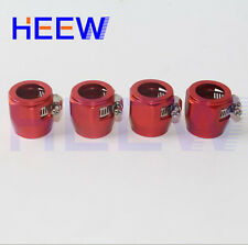 AN - 6 AN6 Fuel Hose Clamp Finisher HEX-6 Finishers ID=12mm  4pcs red