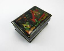 Russian Hand Painted Lacquer Palekh Box, signed -Николаева, Bстреча