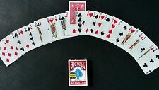 Invisible Deck -Better Grip with Smoother Slip- Bicycle Cards red magic trick