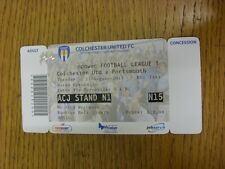 21/08/2012 Ticket: Colchester United v Portsmouth  (folded). Thanks for viewing