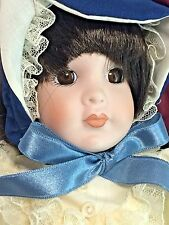 "Kingstate Dollcrafter Ann w/ Hazel Eyes 10"" Porcelain Doll Gown Outfit MIB"