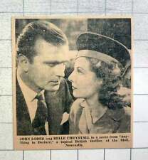 "1939 John Loder And Belle Chrystall Scene From ""anything To Declare"""