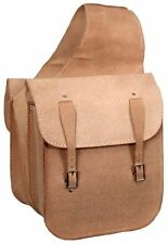 Endurance Trail Riding Roughout LIGHT Leather Saddle Bags Rough Out Buckles