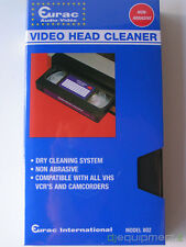 Eurac Cassette Vcr Head Cleaner VHS a Dry Non Abrasive New