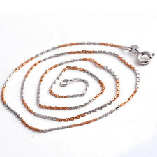 Classic Rose Gold Filled Womens necklace free shipping Silver Jewellry 450 mm