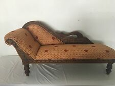Gorgeous Child Size Antique Repro. Victorian  Fainting Couch-Chaise Lounge-Toile