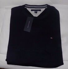 NWT MENS TOMMY HILFIGER CREW SWEATER~NAVY~SZ MED