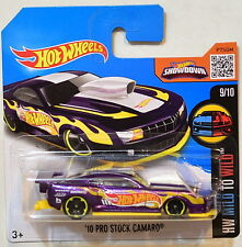 HOT WHEELS 2016 HW WILD TO MILD '10 PRO STOCK CAMARO #9/10 SHORT CARD
