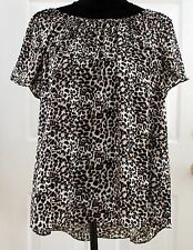 New Women's Clothes Vince Camuto Top, Shirt, Blouse, Animal Print, Size S Small