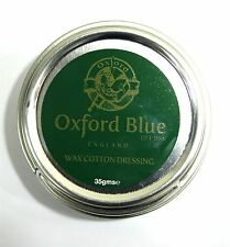 Oxford Blue Wax For Rewaxing Jackets Trousers and all Cotton In A Tin 35gr