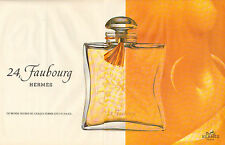 Publicité Advertising 1996 (Double Page)  Parfum  24 , Faubourg  de HERMES