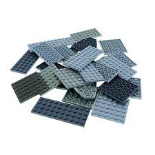 25 x Lego Platten Bau Platte hell dunkel grau zufällig gemischt für Star Wars