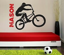 BMX bicycle Wall Decal Vinyl Sticker Decal motocross bike boys room x games kid