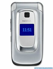 Nokia 6085 Silver refurbished Quadband GSM Video Flip AT&T Cell Phone