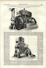 1891 Ac/dc Machines Siemens Halske Stuttgart Engraving