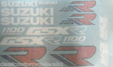 Suzuki GSXR1100 GSXR1100K restauración Decal Set 1989 Azul/Blanco