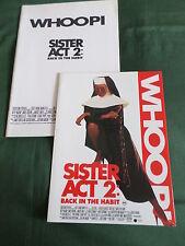 """PRESS SHEET & PRODUCTION NOTES - """" SISTER ACT 2  """" - WHOOPI GOLDBERG"""