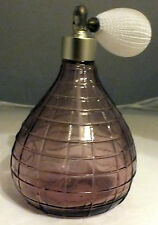 Cranberry coloured glass  perfume atomiser   scent bottle collectable